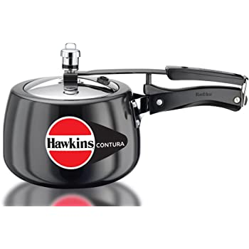 Hawkins Contura Hard Anodized Pressure Cooker, 3 Liters