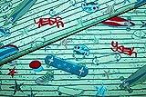 Jerseystoff für Jungen Coool Boards grün | 1,55 Meter
