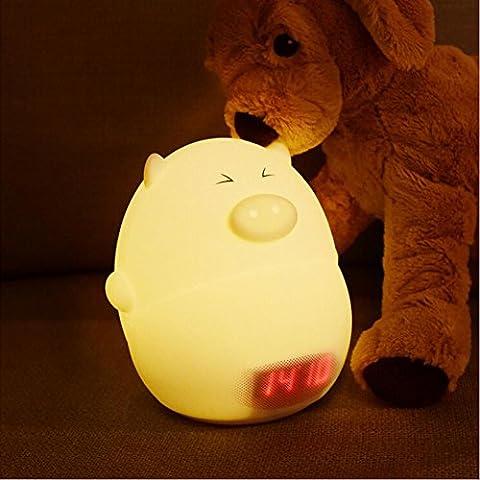 AOKARLIA Kreativ Nachtlicht Piggy Wecker Usb Dekompression Mit Und Temperatur Silikonlicht , C (A / C-umwandlung)
