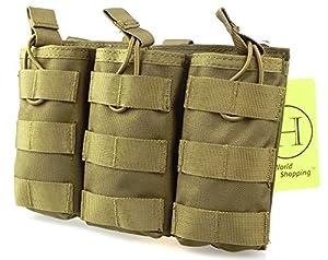 H Monde EU tactical molle m4 m16 ar15 magazine poche mag titulaire toit ouvert la valise diplomatique triple airsoft molle mag