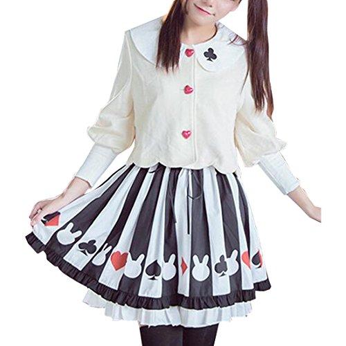 Kaninchen Rock Lolita Netter Mantel-Taillen-Kleid,S,Whole Set 1 (Billig Seemann Halloween-kostüme)