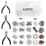 Kurtzy Versilbertes Schmuckherstellungs Set für Herstellung von Armbänder, Halsketten (1000 Teiliges Schmuckherstellungs Set)