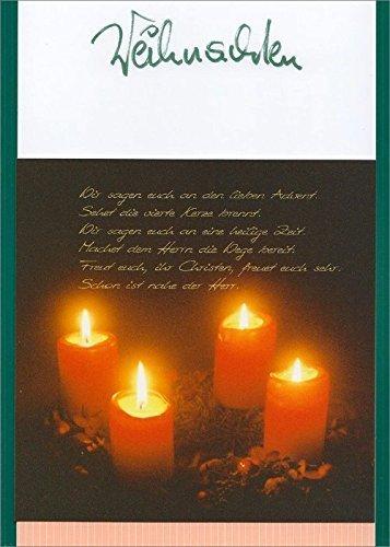 Weihnachten, Textkarte mit Motiv, von Handmadegruss edel und sinnlich für Sie hergestellt, im wärmenden Farbton Rot, ideal für die kalte Jahreszeit