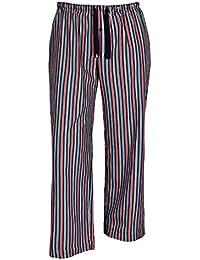 Jockey XXL Pantalones de pijama a rayas azules-rojas