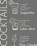 GRAZDesign 300022_40_WT816 Wandtattoo Küche Rezept Cocktails Caipirinha Cuba Küchentattoo/Deko für Küchenwand (49x40cm//816 Antique White)