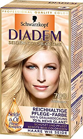 Diadem Seiden-Color-Creme, 709 Goldblond, 3er Pack (3 x 142 ml)