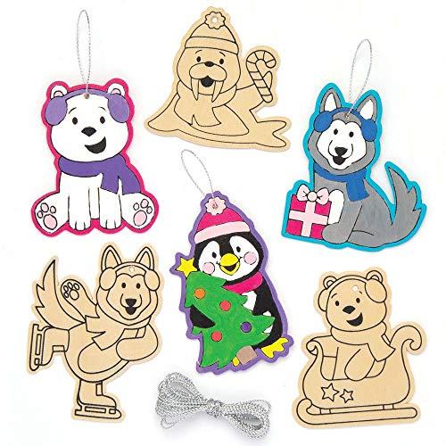 """Baker Ross Holz-Dekoration """"Polarfreunde"""" für Kinder – für -"""