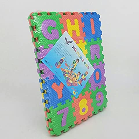 Small EVA Puzzle Foam Mats For Children 36 pieces (Alphabet & Number) GN Enterprises