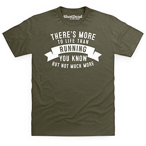More To Life - Running T-shirt, Uomo Verde oliva