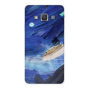 Enticing Blue Paint Work Print Back Case Cover for Galaxy A3