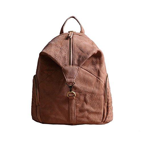 Sprnb Zaino in pelle donna borsa a tracolla in pelle smerigliato, tempo libero Bag,Naturals Naturals