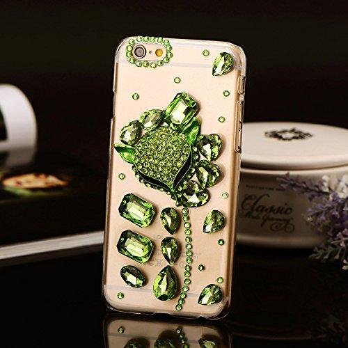 Pour Coque iPhone 5/5s , iNenk® Dur PC luxe diamant Tête renard téléphone Shell manchon protection mode perle couvercle Transparent Créatif pour femmes-violet vert