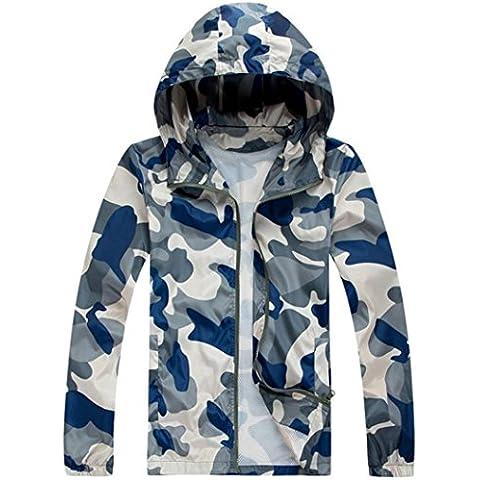 FEITONG Al aire libre de los hombres Camuflaje Velocidad ropa seca corriendo ropa exterior de la chaqueta al aire