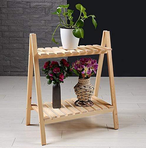 Infinitely Great Home Decor Center 2 Etagen Eck-Pflanzenständer Blumenständer Leiter Regal Massivholz Indoor Outdoor