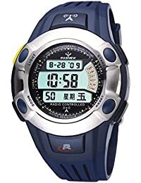 Reloj de los deportes / tabla de la onda / relojes de los hombres / tabla militar / forma electrónica impermeable / reloj masculino , deep blue