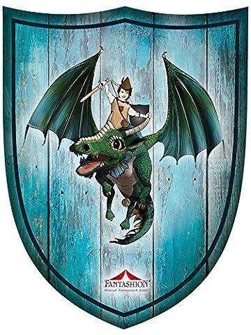 Fantashion F 99 - Ritter-Schild, Jona mit dem Drache, Verkleiden und Kostüm, blau (Ritterschild Kostüm)