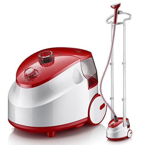 Wtthcc stiratrice a vapore con flusso di vapore regolabile, ferro da stiro a vapore,doppio palo famiglia stiratrice verticale 1800w,2l ferro da stiro a vapore