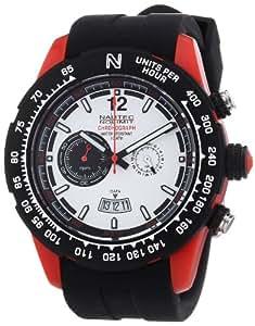 Nautec No Limit Herren-Armbanduhr XL Zero-Yon 2 Chronograph Quarz Kautschuk ZY2 QZ/RBPCBKWH-RD