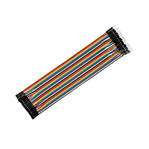 Sourcingmap Stecker auf Buchse 40Jumper Draht 2,54mm Pitch Flachbandkabel Steckplatine DIY 21,5cm lang - Video-motherboard-reparatur