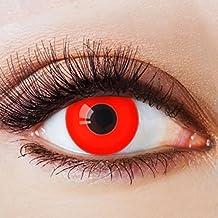 Colores Contacto lente sin grosor con diseño FUN rojos lente Año lente para Halloween Fiesta Disfraz Cosplay Disfraz vampiro Volturi Crepúsculo Rojo