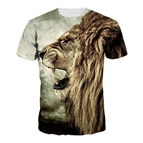 Jiayiqi Señora Rey del Bosque De Impresión 3D Camisetas De Color...