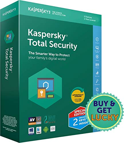 Kaspersky Total Security Latest Version- Multidevice- 2 Users, 1 Year...