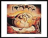 1art1 Salvador Dali Poster Kunstdruck und Kunststoff-Rahmen - Geopoliticus (50 x 40cm)