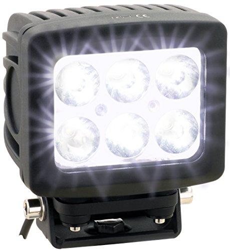 AdLuminis LED Arbeitsscheinwerfer Arbeitsleuchte, 60 Watt 4800 Lumen, Mega Spot Beleuchtung 10°, 12V 24V, IP67 Schutzklasse, Zusatzscheinwerfer, Rückfahrscheinwerfer, Suchscheinwerfer
