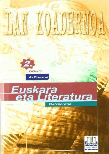 Portada del libro Euskara -A- DBHO 2 -Lan Koadernoa-