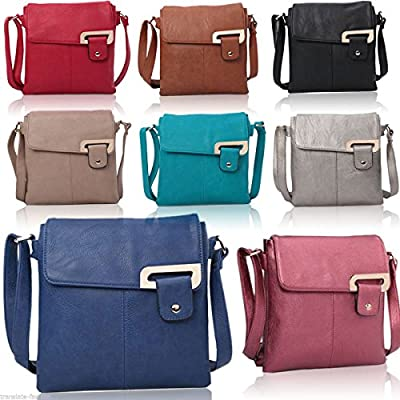 Craze London Womens Medium Multiple Pockets Trendy Cross body Messanger Shoulder bag
