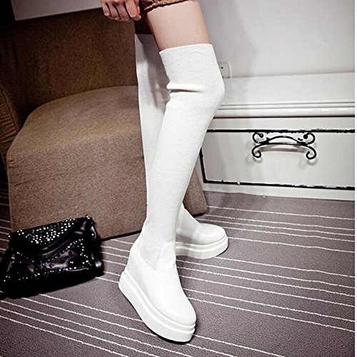 Confort Femmes Cheville Chaussures Hiver Pu Bottes Haizhen wITHqOx