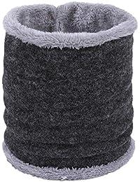 LianMengMVP Mode Couple Peluche à tricoter Seul cercle Collier Foulards  douce hommes femmes Hiver chaud Col écharpe en coton Bandanas… eb8f7867852