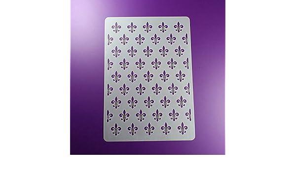 BM01 Schablone Fleur de Lis Lilie Muster Pattern