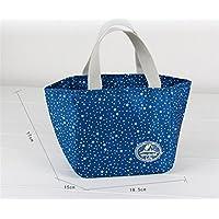 Preisvergleich für Yudanwin Leinwand-Lunch-Tasche Floral Insulation Paket Bento Tasche weißen Kragen