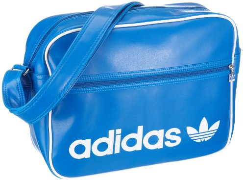Adidas Originals Ac Airline V87411 Borsa A Tracolla Per Adulto Unisex, 38x28x12 Cm (lxpxa) Blu / Bluebird / Whi
