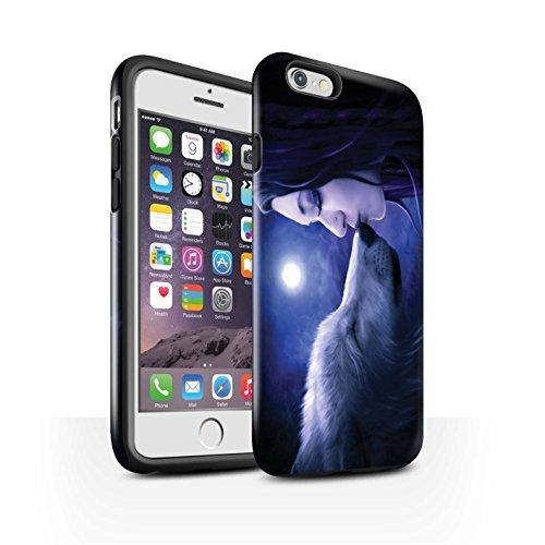 Officiel Elena Dudina Coque / Brillant Robuste Antichoc Etui pour Apple iPhone 6S / Poussière de Lutin Design / Un avec la Nature Collection Baiser de Lune