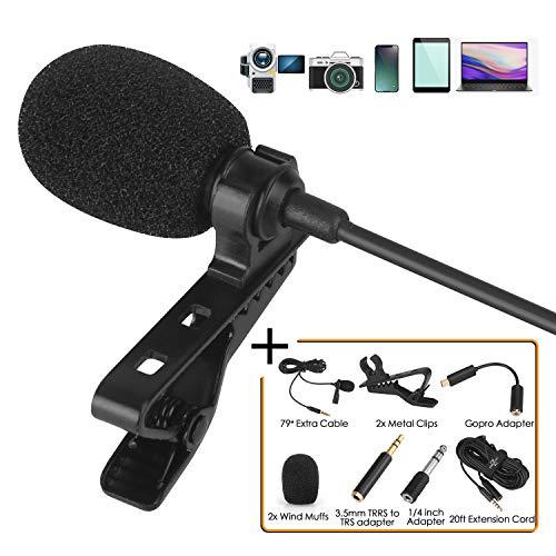 Lavalier Lapel Mikrofon Kit,Mikrofon für Smartphone Zaffiro