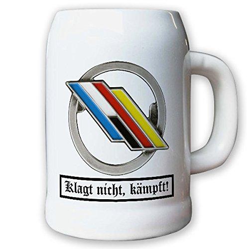 Krug/Bierkrug 0,5l - Barettabezeichen DF Brigade Deutsch Französische #10912