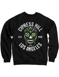 85ce684d7860e Oficialmente Licenciado Cypress Hill - Sugar Skull Sudaderas (Negro)