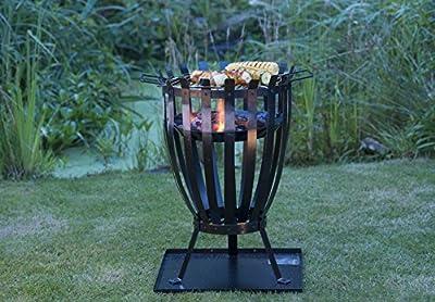 Landmann Feuerkorb, Schwarz, 48,5 x 41 x 46 cm von Landmann - Du und dein Garten