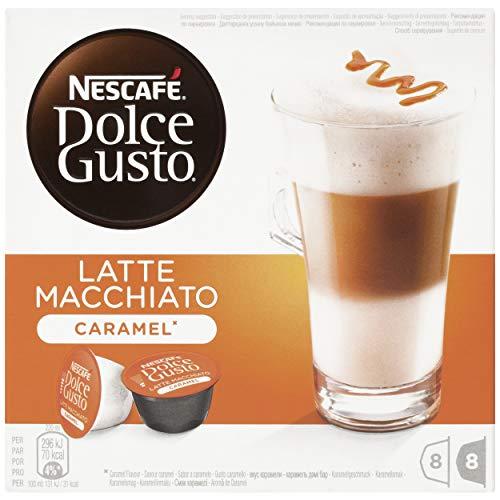 NESCAFÉ Dolce Gusto Café Latte Macchiato Caramel | Pack de 3 x 16 Cápsulas - Total: 48 Cápsulas...