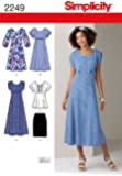 Simplicity BB 20W-28W Sewing Pattern 2249 Misses and Plus Dresses