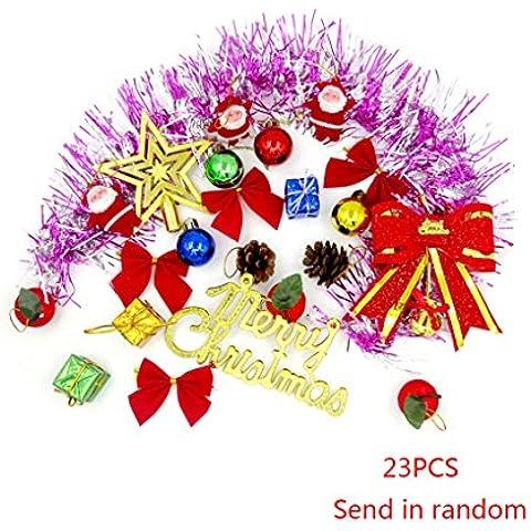 Vollter 23pcs decorazione dell'albero di Natale / pack di Santa decorazione Hanging Ornament Festival Capodanno Decor(colore casuale)