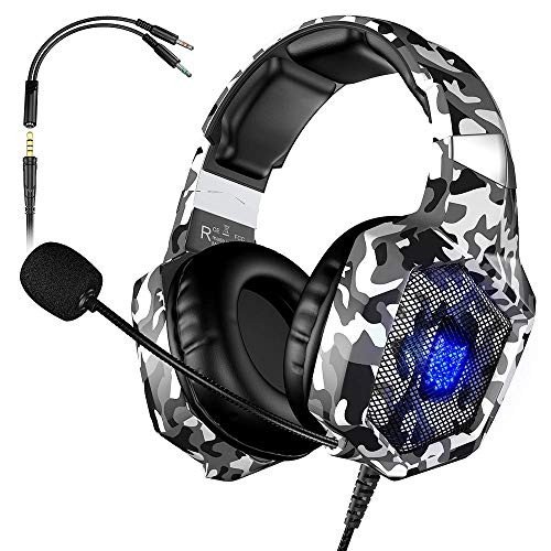VersionTECH. Auriculares Gaming Cascos PS4 con Microfono, Diadema Ajustable,...