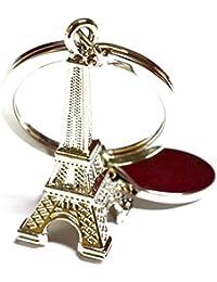 CVANU Eiffel Tower Keychain - (8cmL X 6cmB, Silver) For Hero Splendor ISmart
