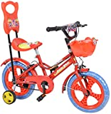 City Star Baby Bicycle 14 Inches Multi Colour Bike For 3-5 Years Unisex With Side Wheels