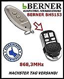 Berner BHS 153 Kompatibel Handsender Ersatz Fernbedienungen 868,3 Mhz