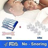 Anti-Ronflement | 8 Elargeurs Cavité Nasale – 10pcs Bandes Nasales | Effet Immédiat - Simple et Pratique - Nécessaire pour Famille