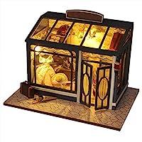 josietomy DIY Miniature Dollhouse Kit Doll House Portable Retro Style Handmade DIY Cottage Model For Kids Gifts Home Decoration, 15*21*17cm