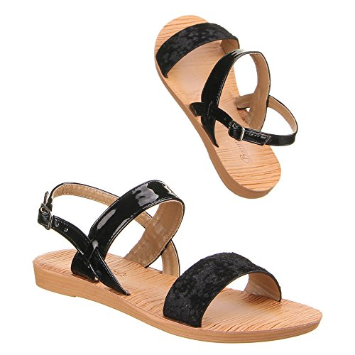 Ital-Design - Scarpe con cinturino alla caviglia Donna Nero (nero)